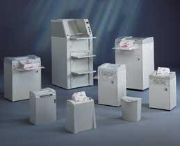 Picture of a self-standing shredder